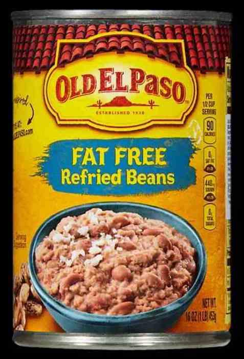 Bilde av Old El Paso refried beans.