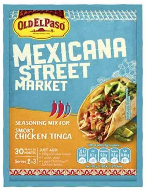 Bilde av Old El Paso mexicana chicken tinga seasoning.