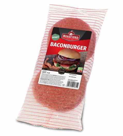 Bilde av Nordfjord baconburger fryst.