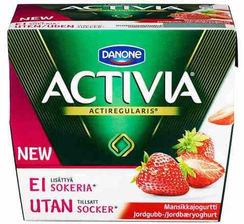 Bilde av Danone Activia yoghurt Jordbær uten sukker.