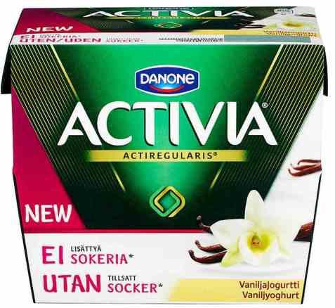 Bilde av Danone Activia yoghurt vanilje uten sukker.