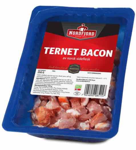 Bilde av Nordfjord bacon i terninger.