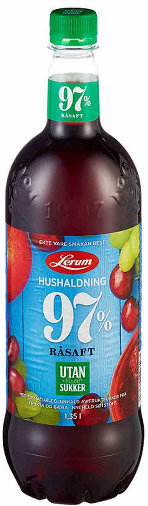 Bilde av Lerum Husholdningssaft utan tilsett sukker 1,35 l.