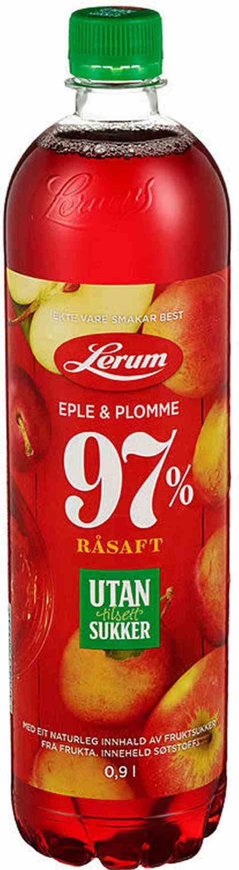 Bilde av Lerum eple-plommesaft utan tilsett sukker.