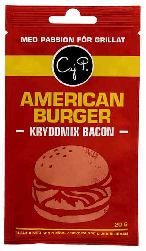 Bilde av Caj P. kryddermix bacon burger.