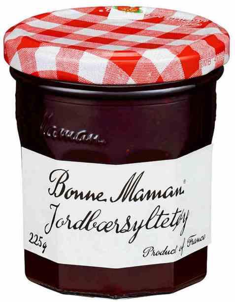 Bilde av Bonne Maman jordbærsyltetøy.