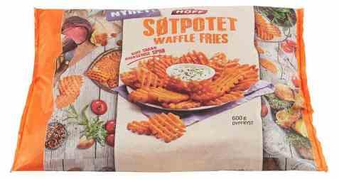 Bilde av Hoff søtpotet waffle fries.
