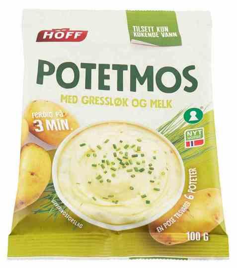 Bilde av Hoff potetmos med gressløk og melk.