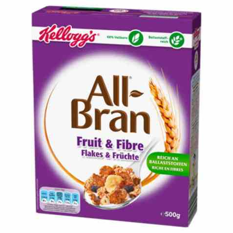 Bilde av Kelloggs all bran fruit and fibre.