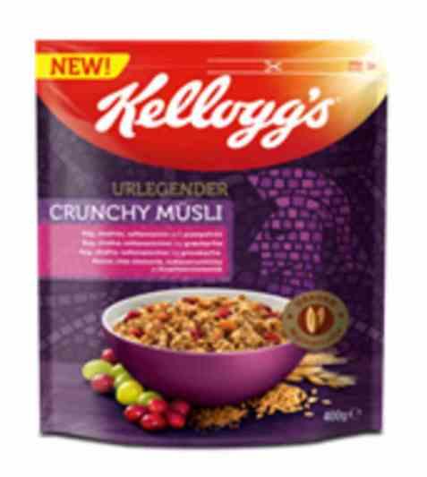 Bilde av Kelloggs urlegender crunchy musli.