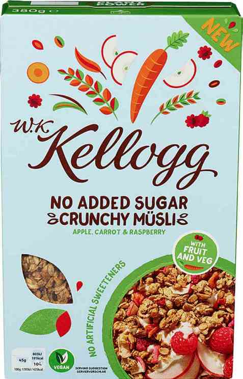 Bilde av Kelloggs wk musli apple and carot.