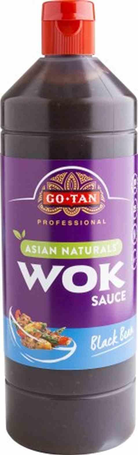 Bilde av Go-Tan Asian Naturals Woksaus black bean 1 liter.