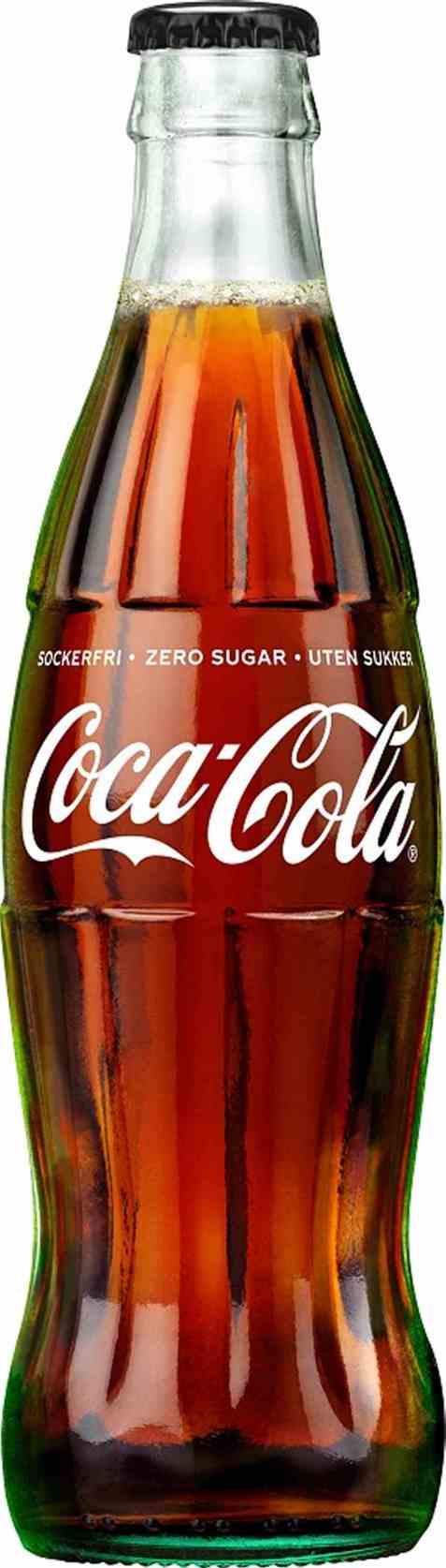 Bilde av Coca Cola uten sukker glass 0,33.
