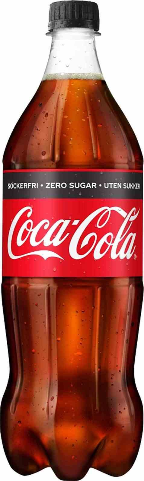 Bilde av Coca Cola uten sukker plast 1 liter.