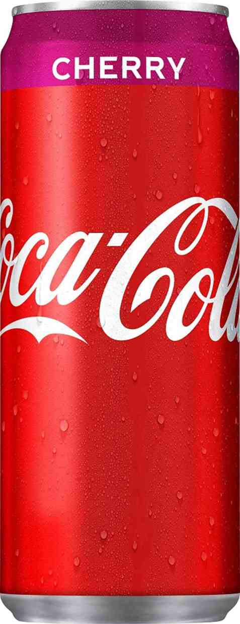 Bilde av Coca cola cherry 330 ml boks.