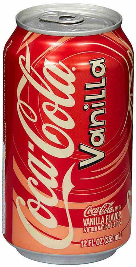 Bilde av Coca cola vanilla 355 ml boks.