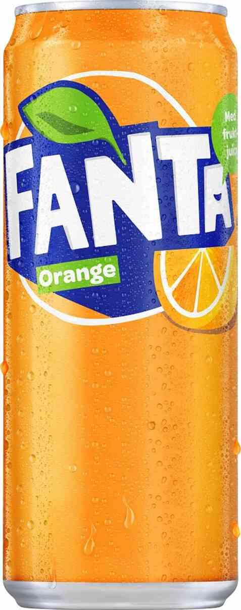 Bilde av Fanta Orange 0,33 l boks.