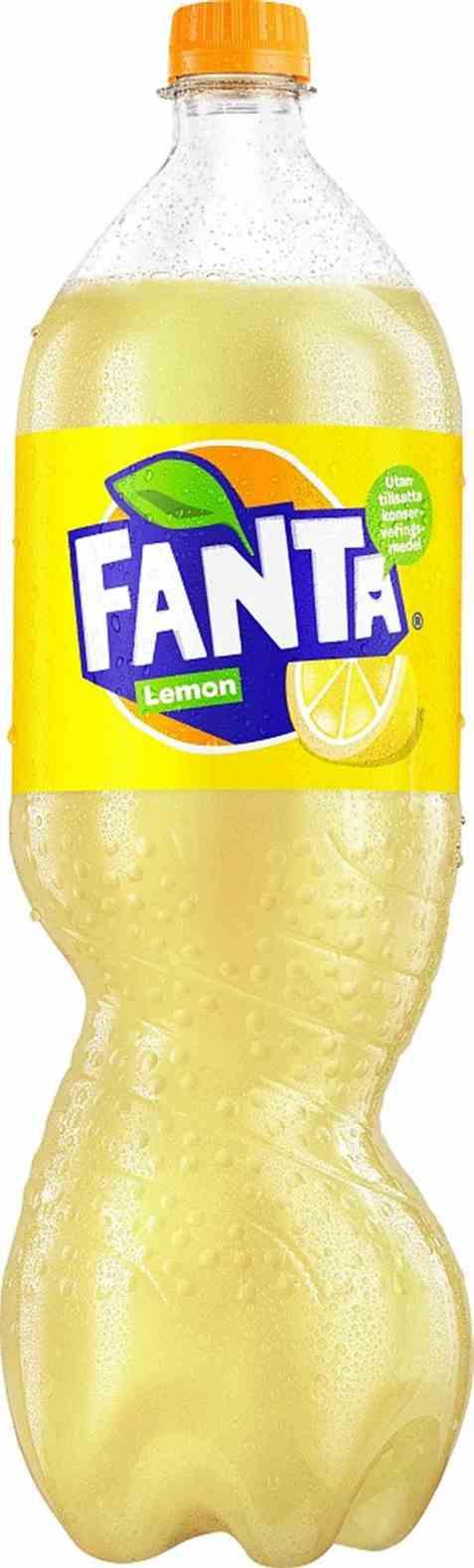 Bilde av Fanta Lemon 1,5 liter.