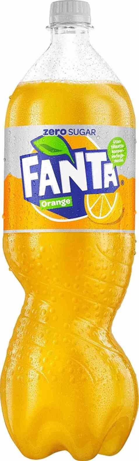 Bilde av Fanta Zero Orange 1,5 liter.