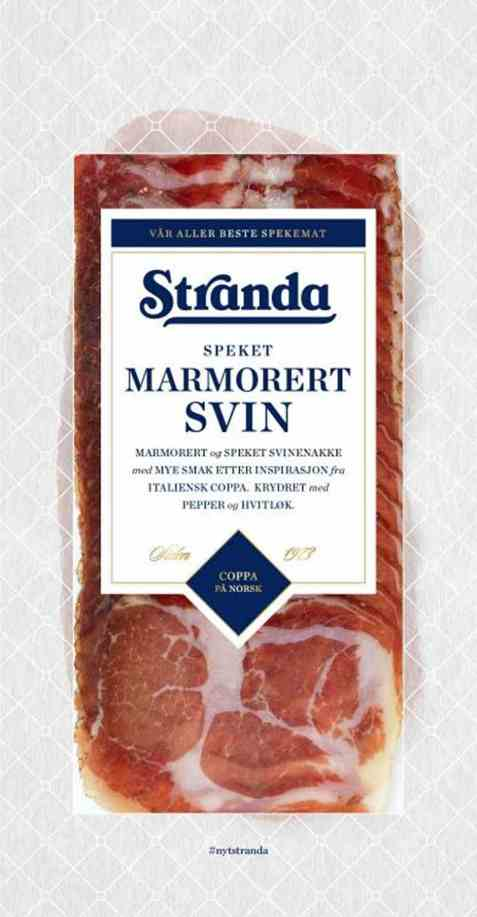 Bilde av Stranda marmorert svinenakke speket.