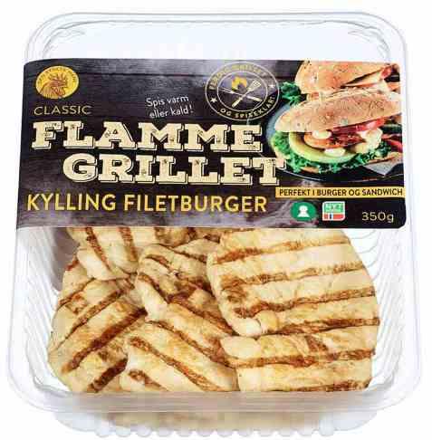 Bilde av Den stolte hane flammegrillet kylling filetburger classic.