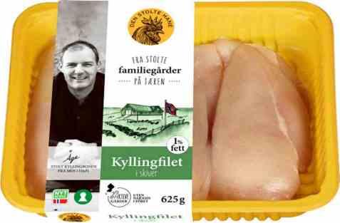 Bilde av Den stolte hane kyllingfilet skivet 625 gr.