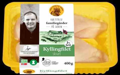 Bilde av Den stolte hane kyllingfilet skivet 400 gr.