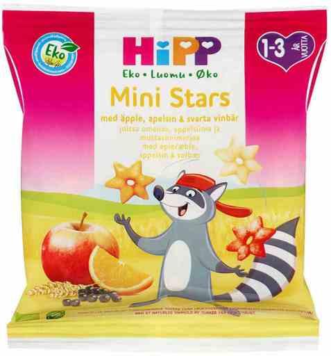 Bilde av Hipp mini stars barnesnacks.