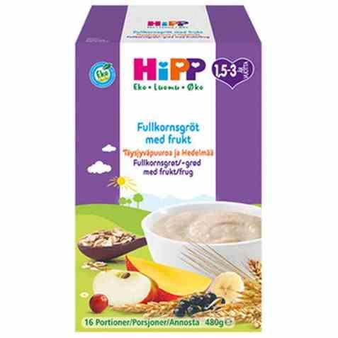 Bilde av Hipp Fullkornsgrøt med frukt.