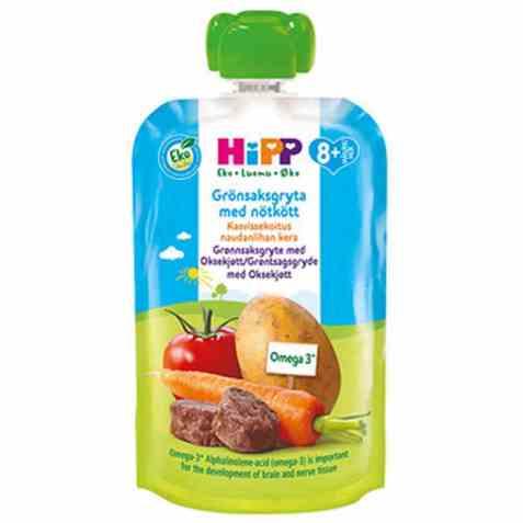Bilde av Hipp Grønnsaksblanding med oksekjøtt.