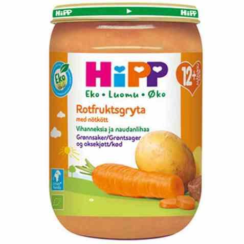 Bilde av Hipp grønnsaker og oksekjøtt.