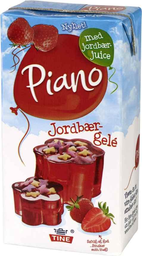 Bilde av Tine Piano Jordbærgele.
