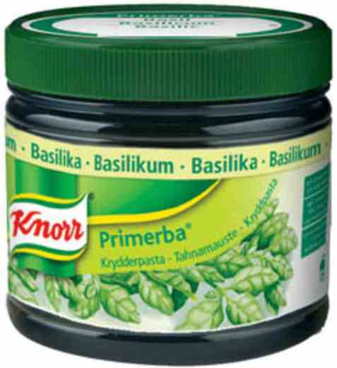 Bilde av Knorr basilikum krydderpasta.
