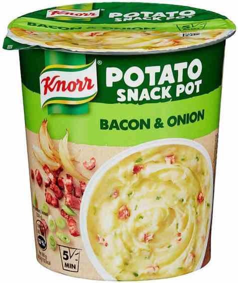 Bilde av Knorr snack pot potato bacon and løk.