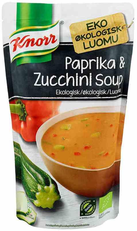 Bilde av Knorr paprika og zucchinisuppe økologisk.