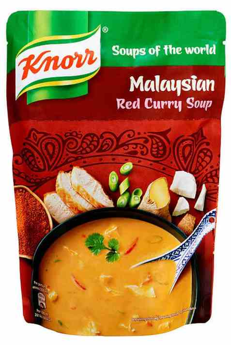 Bilde av Knorr malaysian red curry suppe 380 ml.