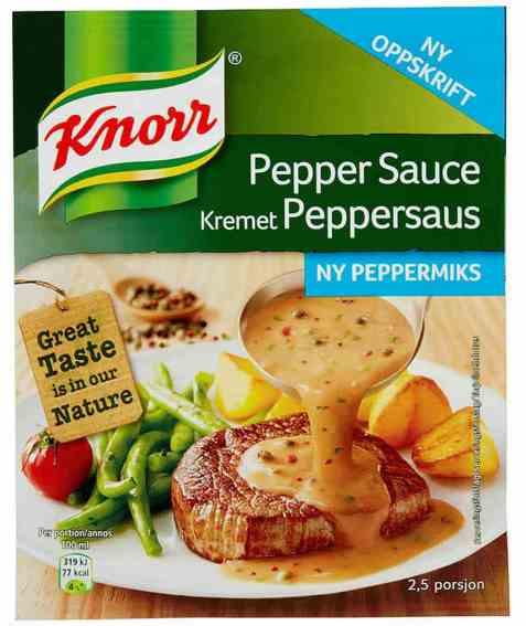 Bilde av Knorr kremet peppersaus.