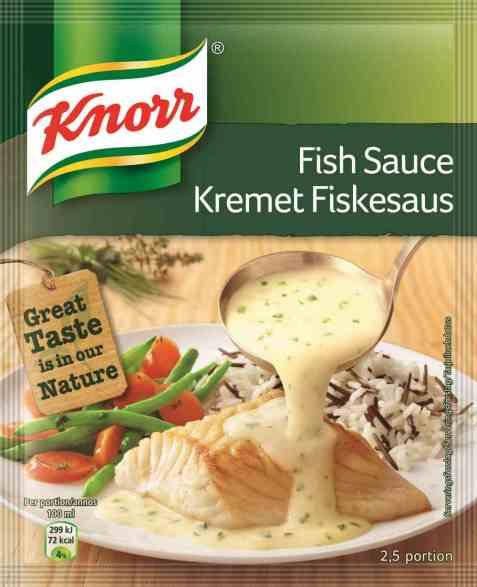 Bilde av Knorr kremet fiskesaus.