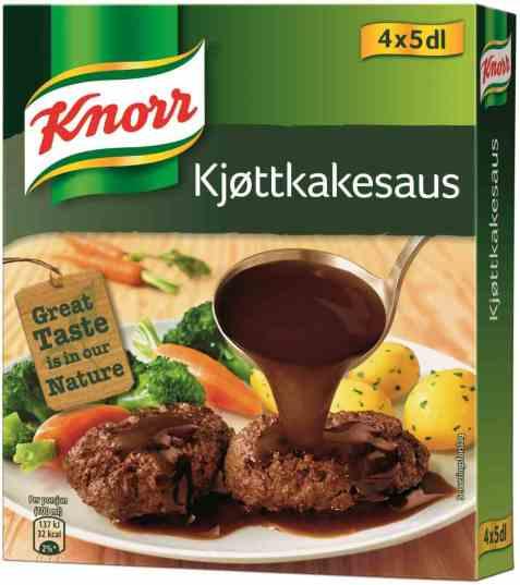 Bilde av Knorr norsk kjøttkakesaus 4 pakke.