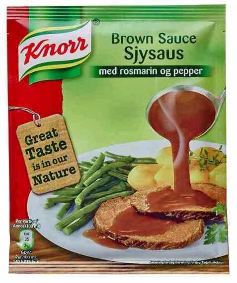 Bilde av Knorr sjysaus med rosmarin og pepper.
