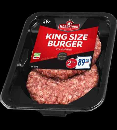 Bilde av Nordfjord king size burger.
