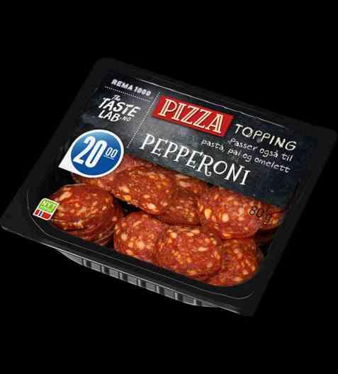 Bilde av Nordfjord pepperoni pizza topping.