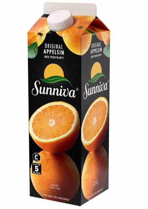 Bilde av Tine Sunniva Original Appelsinjuice m/fruktkjøtt.
