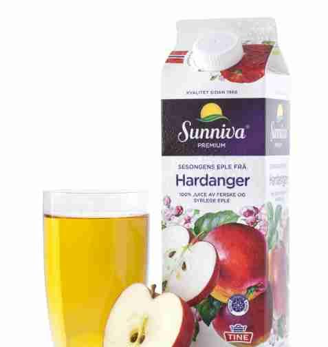 Bilde av Tine Sunniva Premium Eplejuice frå Hardanger.