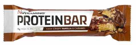 Bilde av Nutramino Proteinbar crispy vanilla og caramell.
