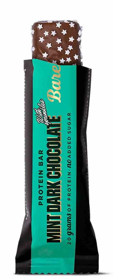 Bilde av Barebells proteinbar mint dark chocolate.
