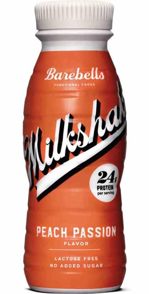 Bilde av Barebells milkshake peach passion.