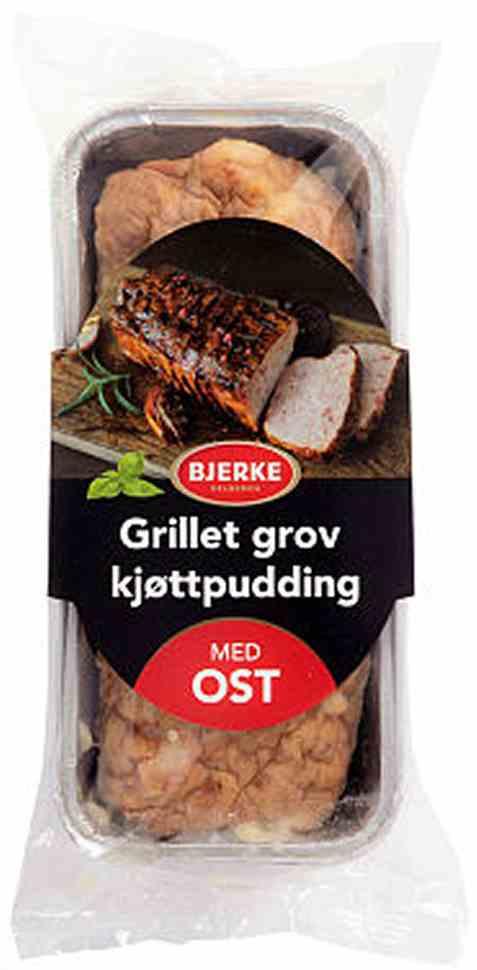 Bilde av Bjerke Grillet grov kjøttpudding med ost.
