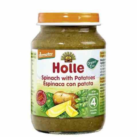 Bilde av Holle spinat med poteter.