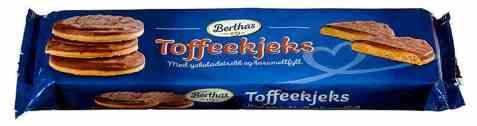 Bilde av Berthas toffee kjeks.